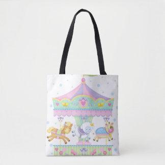 Baby Carousel Tote Bag