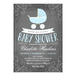Baby Carriage | Baby Shower Invitation