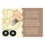 Baby Carriage -  Book Insert Card Business Card