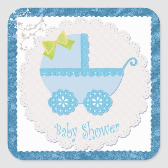 Baby Carriage It's a Boy! Blue Baby Shower