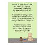 Baby Carriage Tot Book Poem Pack Of Chubby Business Cards