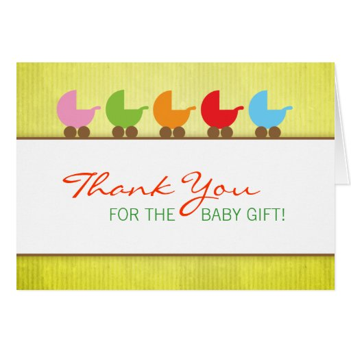 Baby Carriages Gender Neutral Thank You Greeting Cards