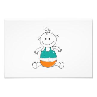 Baby cartoon photo print
