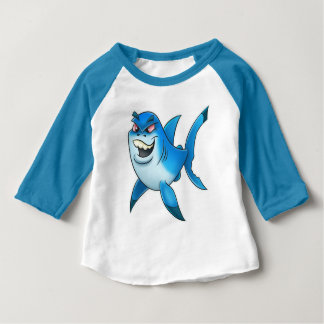 baby cartoon shark shirt red eyes