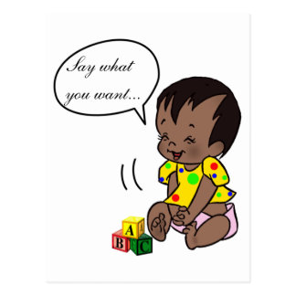 Baby Cartoon to Personalize - Post Card