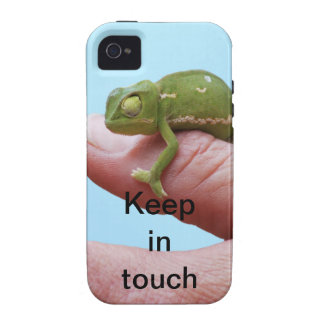 Baby chameleon perspective Case-Mate iPhone 4 case