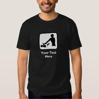 Baby Changing Image (Dark) -- Customizable Shirts