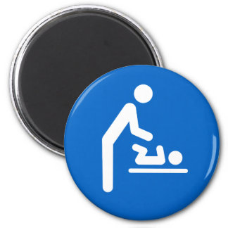 Baby changing station symbol magnet