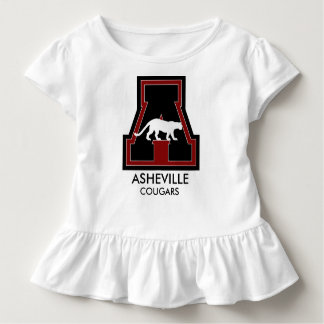 "Baby Cheerleader w/Asheville Coug on ""A"" Toddler T-Shirt"