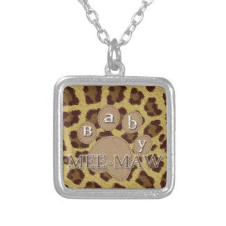 Baby Cheetah Mee maw Custom Jewelry