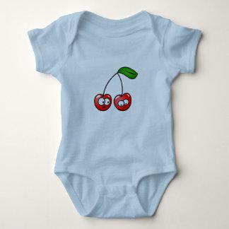 Baby Cherry Fun Bodysuit Blue Gift  Holiday Fun