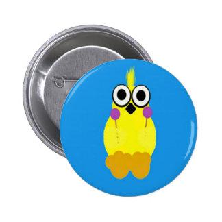 baby chick 6 cm round badge