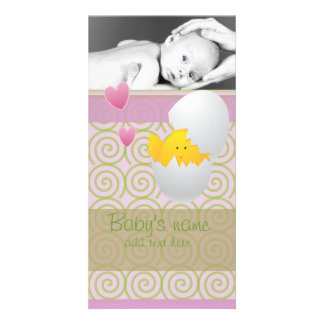 Baby Chick Announcement Custom Photo Card