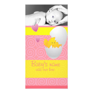 Baby Chick Announcement Customised Photo Card