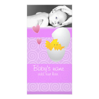 Baby Chick Announcement Customized Photo Card