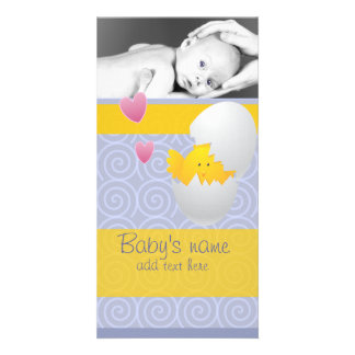 Baby Chick Announcement Photo Card Template