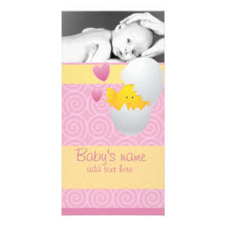 Baby Chick Announcement Photo Greeting Card