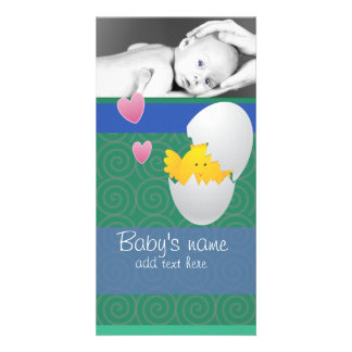 Baby Chick Announcement Picture Card