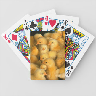 Baby Chick Chicks Chicken Bicycle Playing Cards
