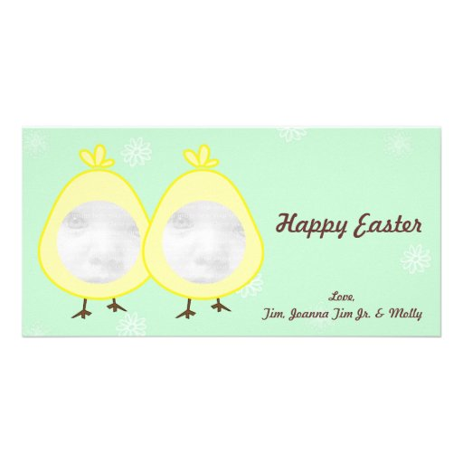 Baby Chick Easter Photo Cards