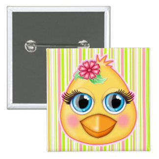 Baby Chick Easter Pin Button