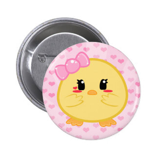 Baby Chick - Girl Button