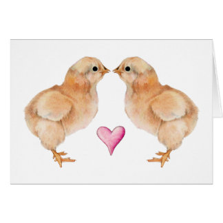 Baby Chick Love Card