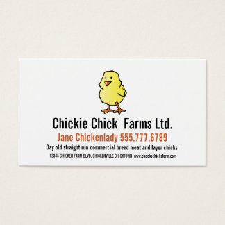Baby Chick Modern Chicken Hatchery Business Card