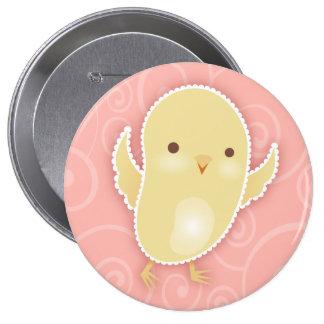 Baby Chick Pink Swirls Button