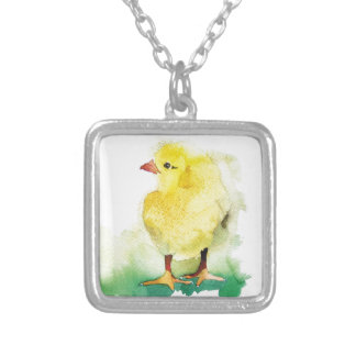 Baby Chick Silver Plated Necklace