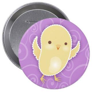 Baby Chick Violet Swirls Button