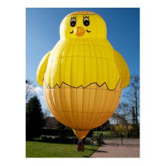 Baby Chicken Balloon Postcard