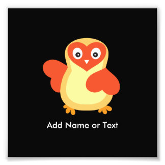 Baby Chicken - Cute Cartoon with Custom Text Photo