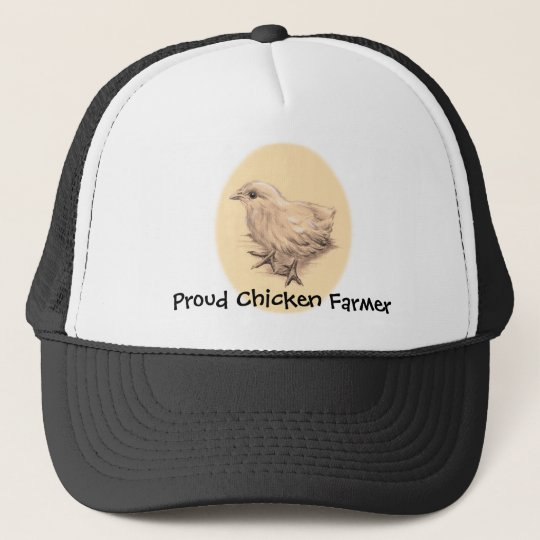 Baby Chicken Drawing Trucker Hat