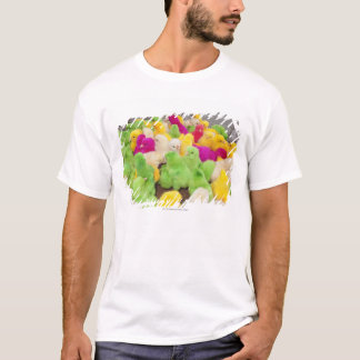 Baby Chicks In A Pen At A Market Colored By Dye T-Shirt