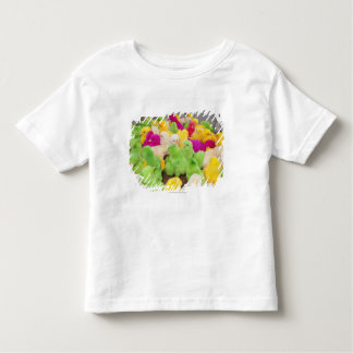 Baby Chicks In A Pen At A Market Colored By Dye Toddler T-Shirt