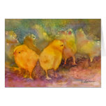 Baby Chicks notecard Cards