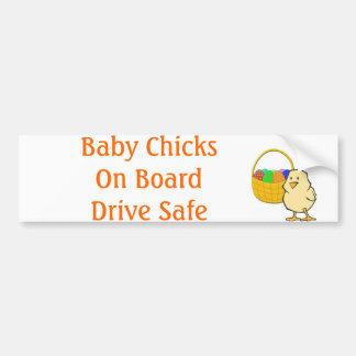 Baby Chicks on Board Easter chicken Car Bumper Sticker