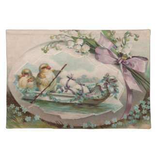 Baby Chicks Rowing Vintage Easter Placemats