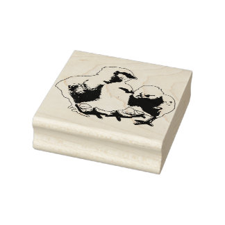 Baby Chicks Rubber Stamp