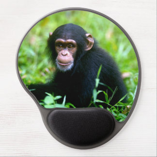 Baby Chimp in Grass Gel Mouse Pad