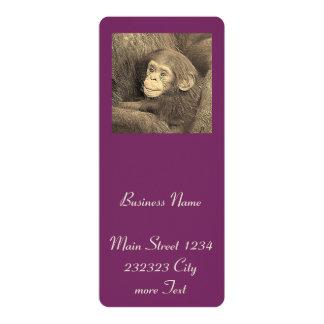 baby chimpanzeeh,retro look 10 cm x 24 cm invitation card