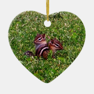 Baby Chipmunks Animal Nature Ornament
