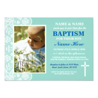 Baby Christening Baptism Boy or Girl Photo Invite
