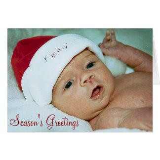 Baby Christmas Greeting Card