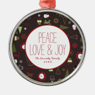 Baby Christmas Pattern Christmas Ornament