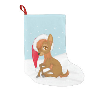 Baby Christmas Reindeer Small Christmas Stocking