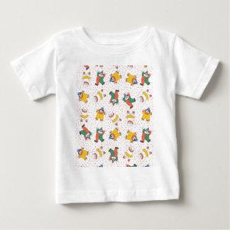 Baby Circus Animals Illustration Pattern Baby T-Shirt