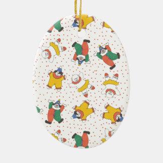 Baby Circus Animals Illustration Pattern Christmas Tree Ornaments