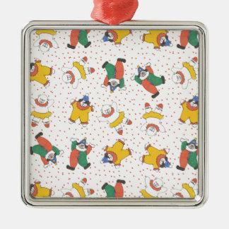 Baby Circus Animals Illustration Pattern Christmas Ornaments